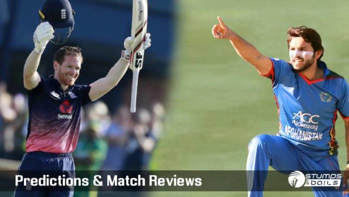 England Vs Afghanistan 24th ODI ICC Cricket World Cup 2019 – Live Cricket Score | ENG Vs AFG ICC WC 2019