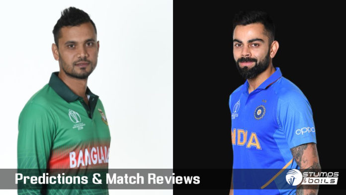 Bangladesh Vs India 40th ODI ICC Cricket World Cup 2019 – Live Cricket Score   Ban Vs Ind ICC WC 2019
