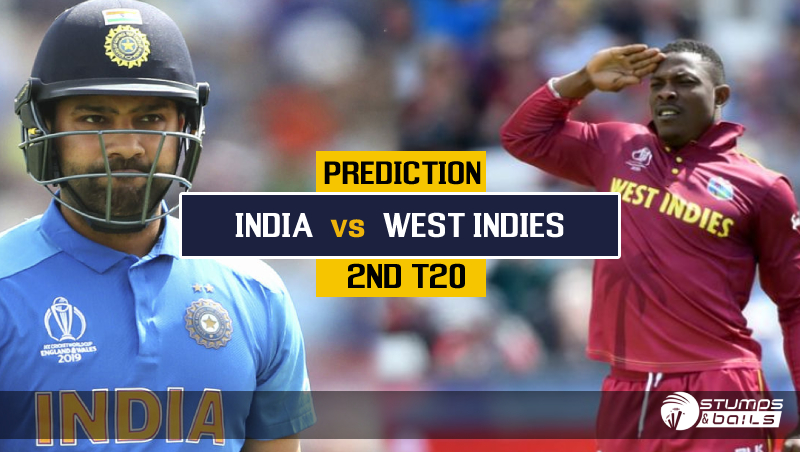 Match Prediction For West Indies Vs India – 2nd T20, India Tour Of