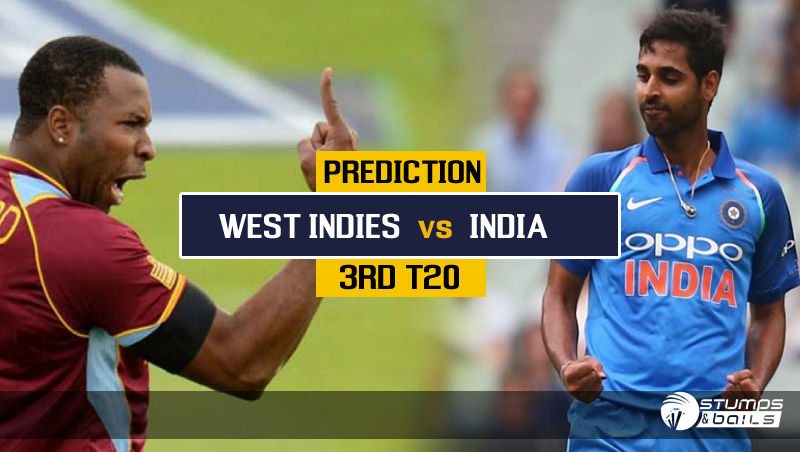 Match Prediction For West Indies Vs India – 3rd T20 | WI Vs IND