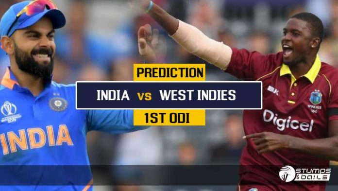 Match Prediction For India vs West Indies – 1st ODI, India Tour Of West Indies 2019 | IND vs WI