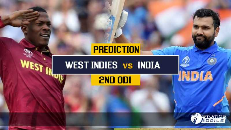 Match Prediction For India vs West Indies – 2nd ODI   IND VS WI