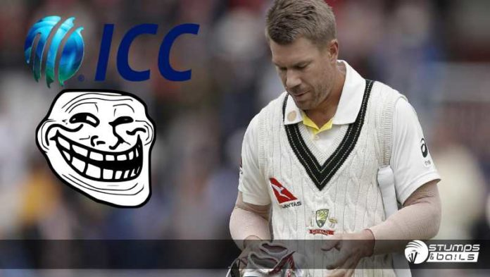 ICC Trolled - David Warner For His Consistent Dismissals
