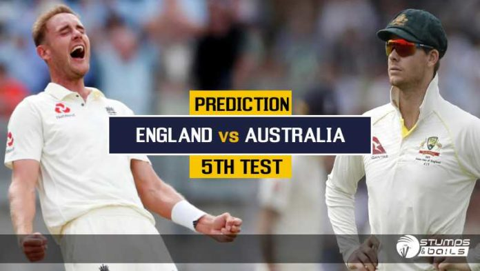 Match Prediction For England Vs Australia – 5th Test Ashes 2019 | Eng Vs Aus