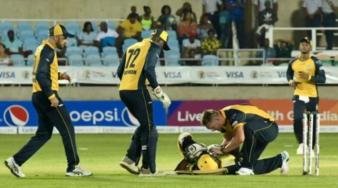 CPL 2019 - Andre Russell Suffered A Nasty Blow On His Head