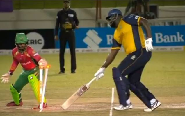 Rahkeem Cornwall Made A Comical Run-Out Over Guyana Amazon Warriors
