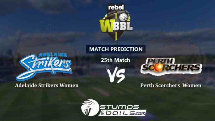 Match Prediction For Adelaide Strikers Women vs Perth Scorchers Women 25th T20 | Womens Big Bash League 2019 | WBBL 2019 | ADSW vs PRSW