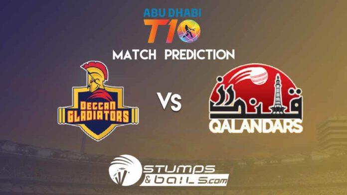 Match Prediction For Deccan Gladiators vs Qalandars | T10 League 2019 | DGL vs QLD