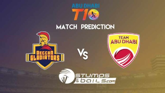 Match Prediction For Deccan Gladiators Vs Team Abu Dhabi | T10 League 2019 | DGL Vs AD