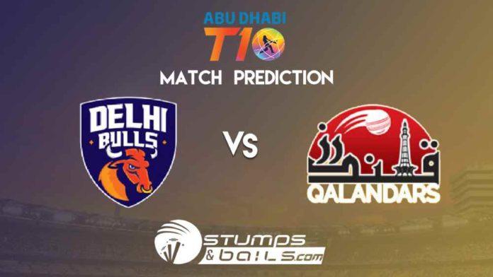 Match Prediction For Delhi Bulls vs Qalandars | T10 League 2019 | DB vs QLD