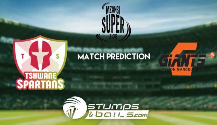 Match Prediction For Tshwane Spartans vs Nelson Mandela Bay Giants 5th Match | Mzansi Super League 2019| MSL 2019 | TS vs NMBG