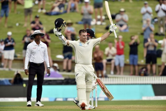 Latham's century gave New Zealand a Solid Position Against England