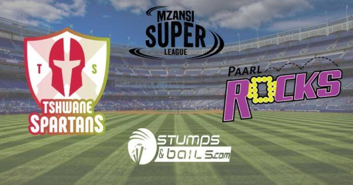 Paarl Rocks VS Tshwane Spartans Match Prediction | Mzansi Super League