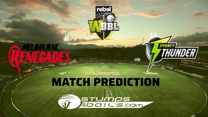 Match Prediction For Melbourne Renegades Women vs Sydney Thunder Women 53rd T20 | Women Big Bash League 2019 | WBBL 2019 |MRW Vs STW