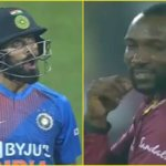 IND VS WI : Kohli's Epic Reaction After Hitting Six Off Williams In 3rd T20I