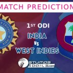 Match Prediction for India Vs West Indies 2019 - 1st ODI