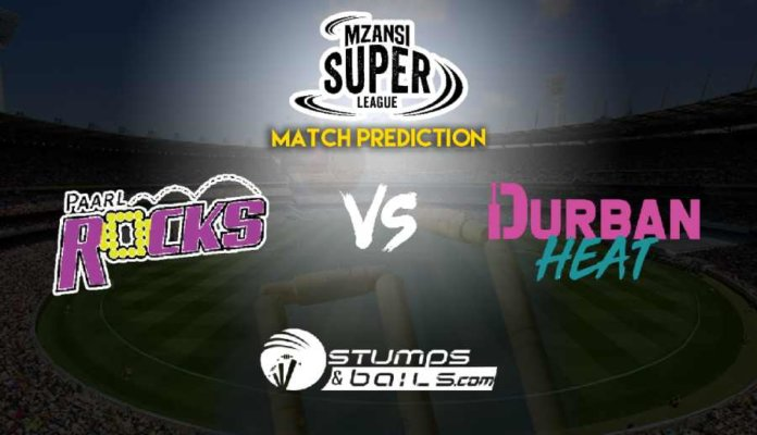 Paarl Rocks vs Durban Heat Match Prediction | Mzansi Super League 2019 | MSL 2019 | PR vs DH