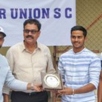 Former Indian Player, Dilip Vengsarkar And Rahane Felicitates The U-19 Indian Players