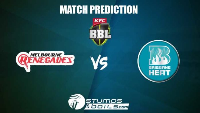 Melbourne Renegades Vs Brisbane Heat T20 Prediction| BBL 2019-20
