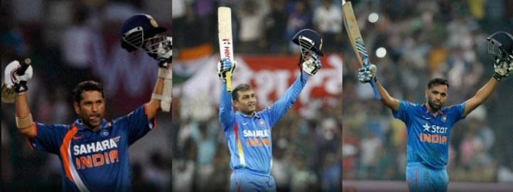 Double century coincidence of Sachin Sehwag and Rohit